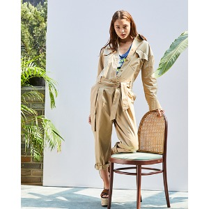 Safari Jumpsuit (Beige) 2차 재입고